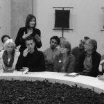Anke Lowenspung, with Alex Arteaga, guiding a forum, Dornach 2007